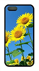 Beautiful Sunflower 1 - iPhone 5S Case Funny Lovely Best Cool Customize Black Cover by icecream design