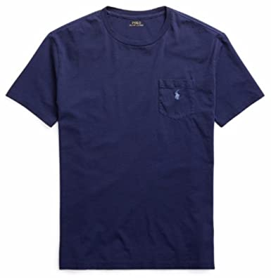 5698aec64 Image Unavailable. Image not available for. Color: RALPH LAUREN Polo Mens  Stretch Cotton Pocket T-Shirt ...