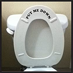Put Me Down Bathroom toilet wall art decal sticker funny kids potty training reminder