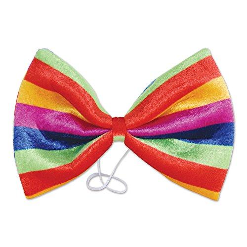 Beistle 60340 Jumbo Rainbow Bow Tie, Multicolor -