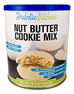 Diabetic Kitchen Nut Butter Cookie Mix Makes The Moistest, Chewiest, No-Guilt Cookies Ever ● Gluten-Free, High-Fiber, Low-Carb, No Artificial Sweeteners or Sugar Alcohols (Makes 60 Cookies)