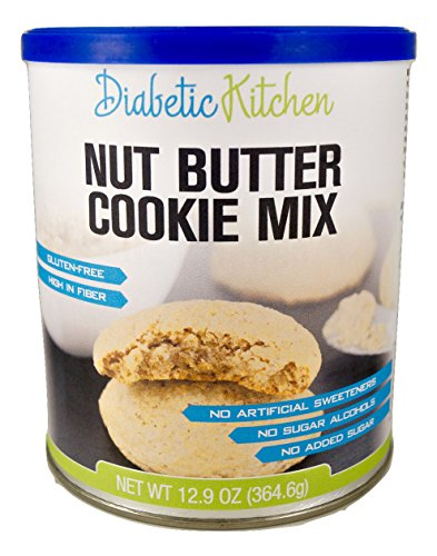Walnut Sugar Cookies (Diabetic Kitchen Nut Butter Cookie Mix Makes The Moistest, Chewiest, No-Guilt Cookies Ever ● Sugar-Free, Gluten-Free, High-Fiber, Low-Carb, No Artificial Sweeteners (Makes 60 Cookies) )