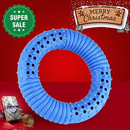 SHENNOSI Pet Products Arctic Freeze Fetch Food Cooling Puppy Teether Chew Toy Dog Chew Rubber Water Play and Freeze Play (Donut)