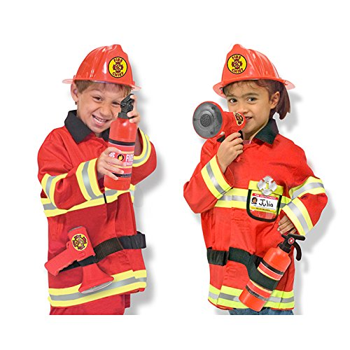 Melissa & Doug Role Play FIRE Chief Costume Set (Set of 3)