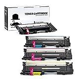 1 Set of 4 Moustache ® Samsung CLT-K406S CLT-C406S CLT-M406S CLT-Y406S (CLT-406S 406S CLT406) BK/C/M/Y New Compatible Laser Toner Cartridges For Samsung Xpress C410W, SL-C410W, SL-C460FW, SL-C460W, CLP-360, CLP-365, CLP-365W, CLX-3305FW (1*Black, 1*Cyan, 1*Magenta, 1*Yellow)