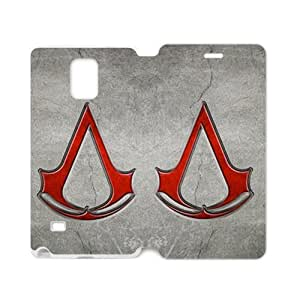 Defender Case With Nice Appearance Assassin's Creed Logo Samsung Galaxy note 4 Case Cover (Laser Technology)