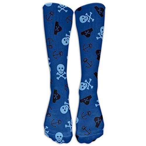 Zaqxsw Funny Pirates Womens Socks Dress Tube Boot Socks Look Knee High Pirate Boots