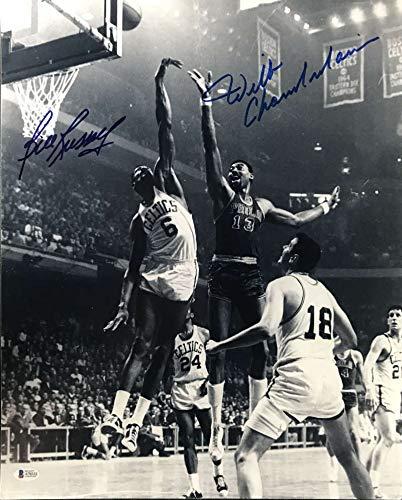 Wilt Chamberlain Bill Russell Signed Autographed 16x20 Photograph Beckett BAS - Bill Russell Signed Photograph