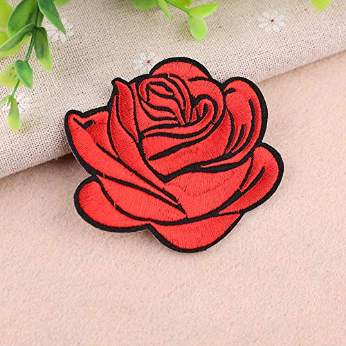 Gyswshh Tablecloth,Rose Badge Iron On Patch Decoration Flower Bag Hat Applique Clothing Accessory Red by Gyswshh (Image #2)