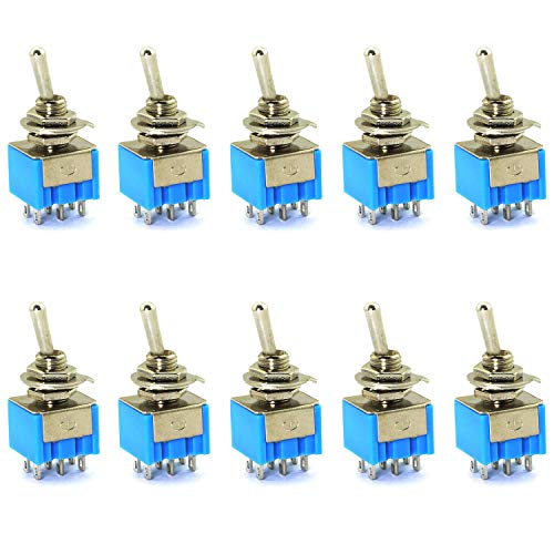 - E-outstanding 10PCS MTS202 6 Pins 2 Positions Mini Toggle Switch 6A/125V 3A/250V for Arduino