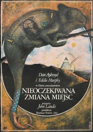 Trading Places Poster Polish 27x40 Eddie Murphy Dan Aykroyd Jamie Lee Curtis - Eddie Murphy Actor