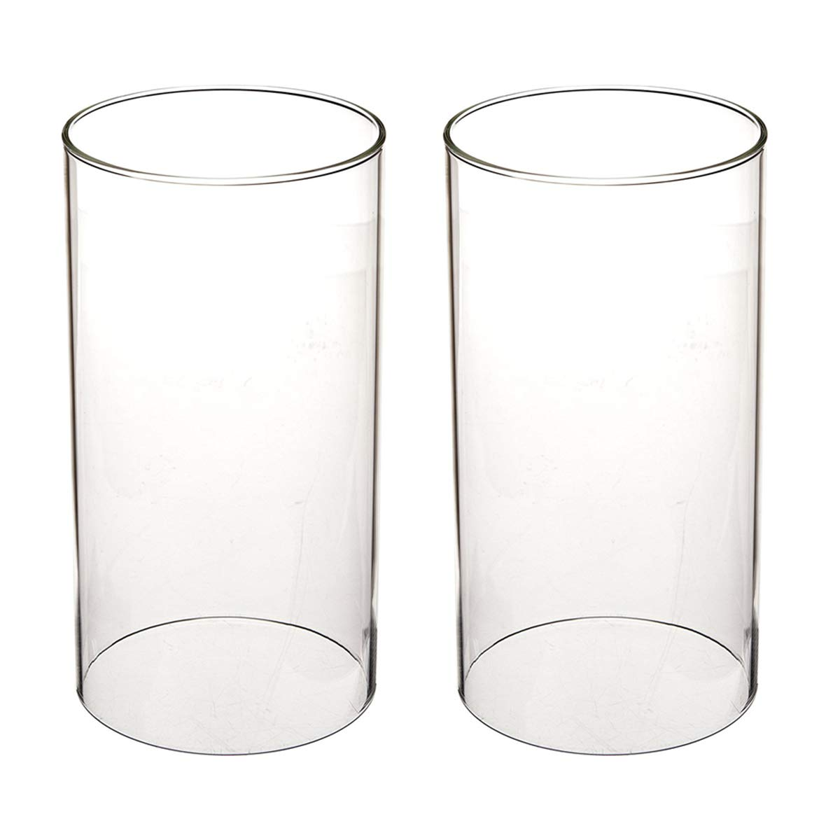 SGLED Clear Candle Holder, Glass Chimney for Candle Open Ended, Internal Diameter 3.55