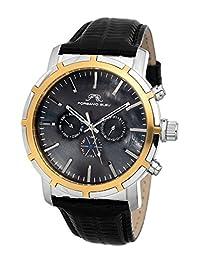 Porsamo Bleu NYC Genuine Leather Two Tone & Black Men's Watch 051DNYL