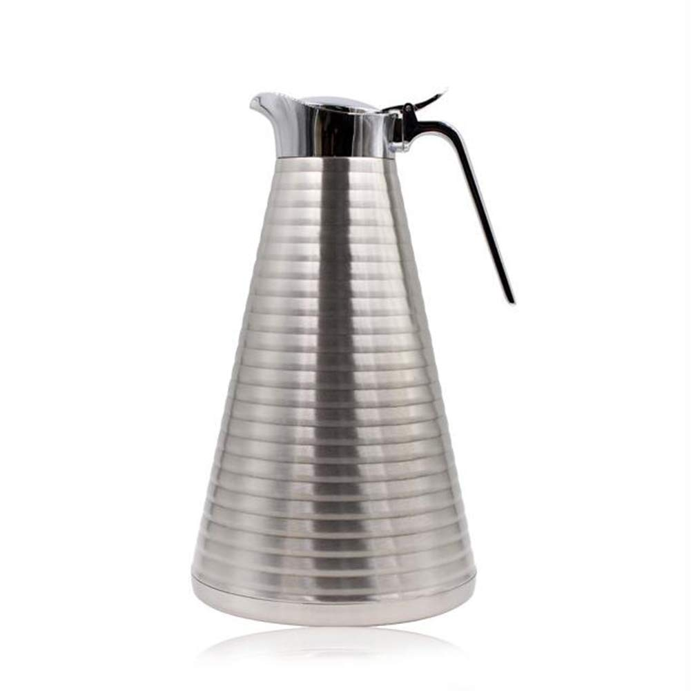 CFZHANG 2L Vacuum Insulated Jug Thermal Carafe Stainless Steel Double Wall Insulation Pot for Coffee Juice Milk Tea Beverages, 24Hrs Heat&Cold Retention, Lab Tested, for Coffee, Tea, Beverage Etc