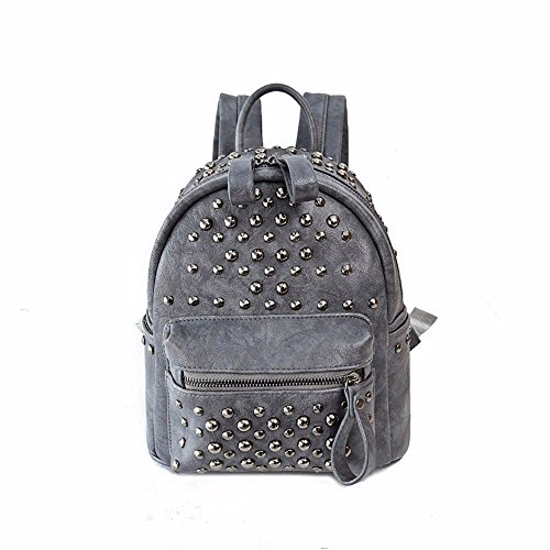 casual fashion MSZYZ Rivet gray shoulder bag pack female woman bag ITq0awqCn