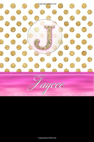 "Jaycee: Personalized Lined Journal Diary Notebook 150 Pages, 6"" x 9"" (15.24 x 22.86 cm), Durable Soft Cover"