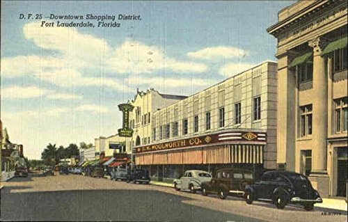 Downtown Shopping District Fort Lauderdale, Florida Original Vintage - La Downtown Shopping District