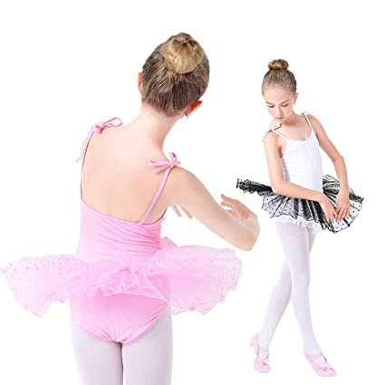 Kids Girls Christmas Ballet Dance Dress Outfits Skating Tutu Leotard Gym Costume