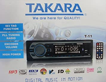 Takara T-11 Car MP3 Player USB SD Player ID3 Tag: Amazon co uk
