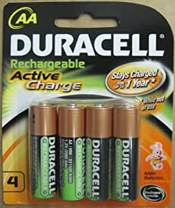 "Amazon.com: Duracell AA NiMH 2000mAh Active Charge ""Pre"
