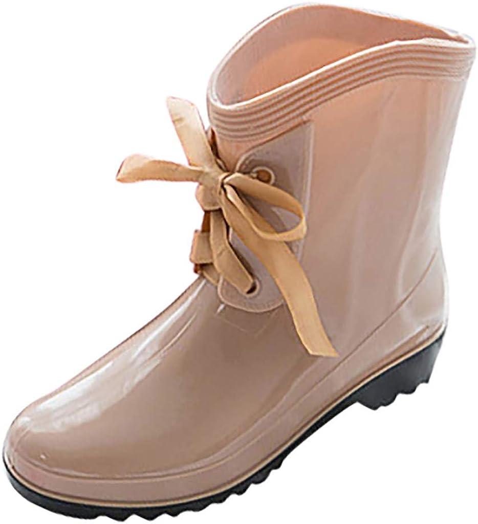 Hombre Zapatillas Moda Botas de Lluvia para Mujer,ZARLLE Zapatos ...