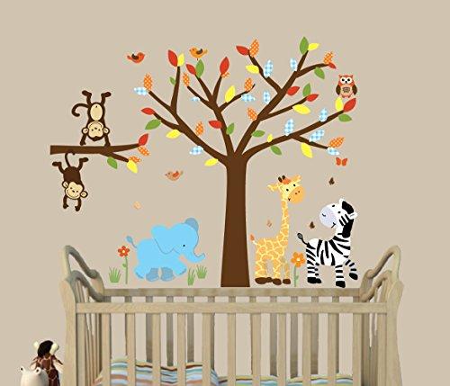 Safari Fabric Palette - Safari Happy, Jungle Tree Decals, Jungle Stickers, Fabric Tree