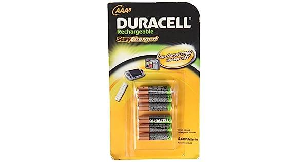 Amazon.com: Duracell - Pilas recargables AAA, DX24B6TB ...