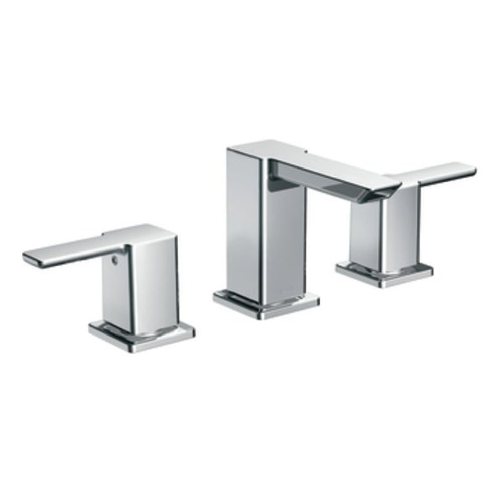 Moen 90 Degree Two-Handle Widespread Bathroom Faucet without Valve ...