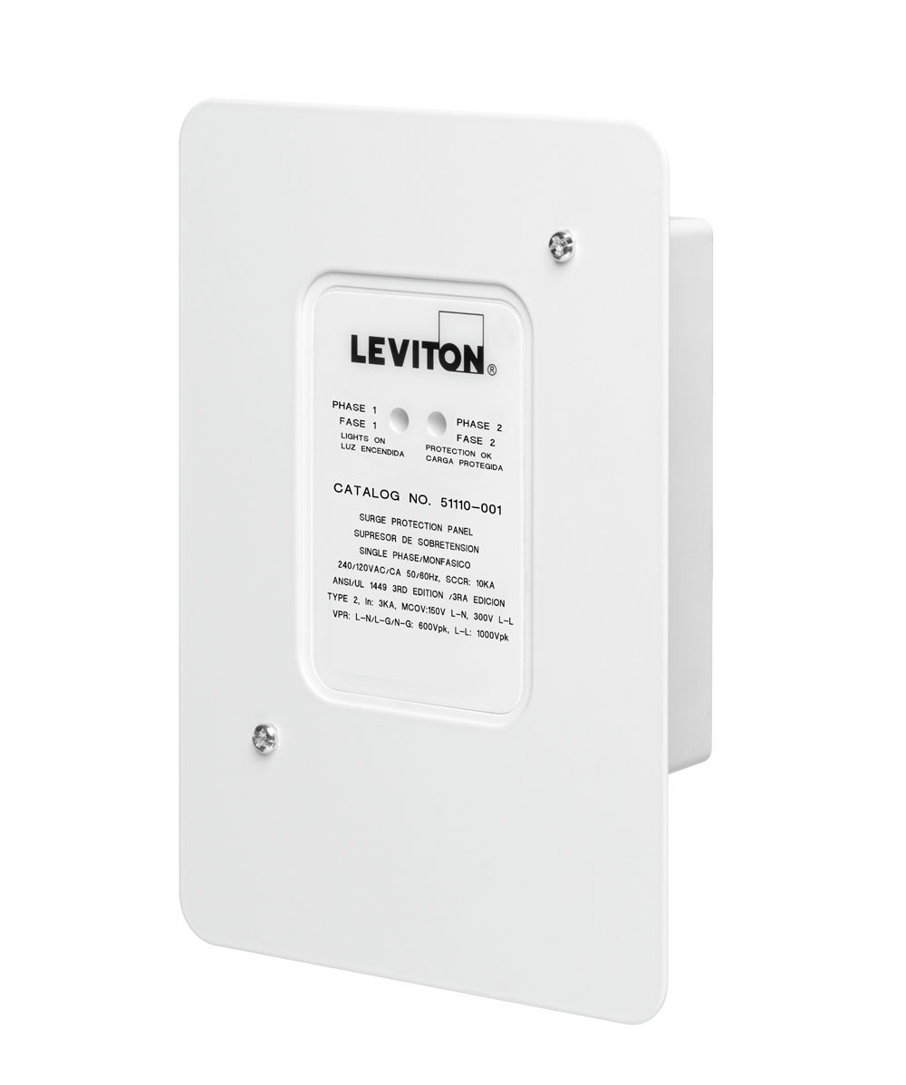 Leviton 51110-SRG Residential Surge Protection Panel by Leviton