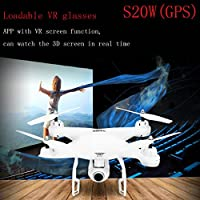 Drone S20,Camera & Photo Features GPS FPV RC With Live Video And Return Home RTF (white)