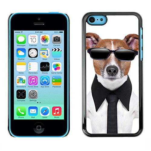 Premio Sottile Slim Cassa Custodia Case Cover Shell // V00001660 chien en noir // Apple iPhone 5C
