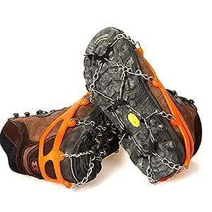 Pixnor Un par de zapatos antideslizantes para hielo tacchette Boot banda de rodadura asas tracción Suelas cadenas Spike pinzas Overshoes