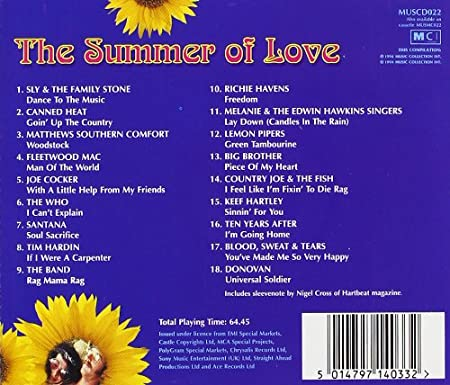Various Artists - Summer of Love: The Soundtrack to a Generation
