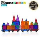 PicassoTiles 2 Piece Car Truck Set w/ Extra Long