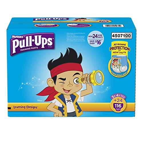 Huggies Pull-ups Traning Pants for Boys (Size L, 3T - 4T, 116 ct.)