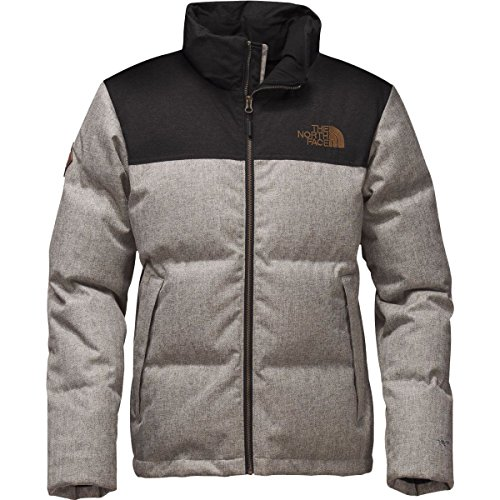 1948ffa543 The North Face Men s Novelty Nuptse Jacket Monument Grey Herringbone Tnf  Black Dobby Large