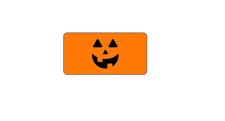 tags stickers 10 Halloween Jack o lanternhalf wrap water bottle labels