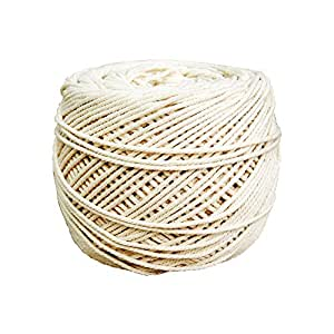 Natural Cotton Macrame Wall Hanging Plant Hanger Craft Making Knitting Cord Rope Natural Color 3mm 4mm 5mm (3mm)