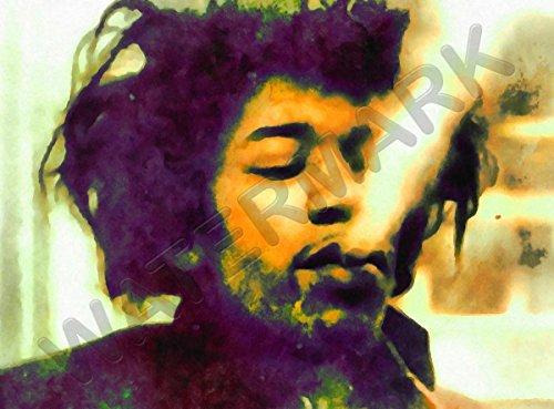 Doppelganger33 Ltd Jimi Hendrix Smoking Pot Rock N Roll Star Legend Wall Canvas Art Print