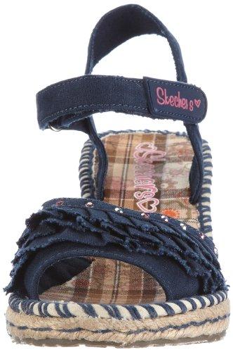 Skechers TikisRuffle Ups 86532L DEN - Sandalias de lona para niña Azul (Blau (Den))