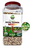 Wunder Basket Organic Mixed Quinoa, 5 LB Jar, Raw, Non-GMO, Vegan ... (Mixed Color)