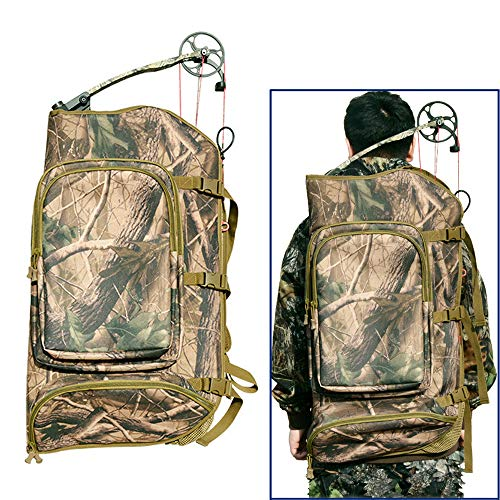 WEREWOLVES Archery Hunting Compound Bow Bag Padded Layer Foam Bow Case Compound Bow Wild Backpack (Camouflage)