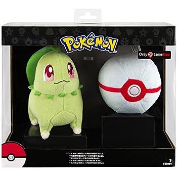 TOMY Pokemon Plush Figure Chikorita with Premier Poke Ball 15 cm Peluches