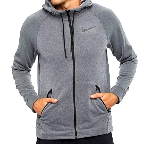 Nike Mens Dry Training Hoodie - DarkGrey/Cool Grey/Black Small by NIKE