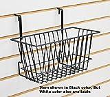 5 Pc White Narrow Universal Basket for Pegboard, Slat/Grid wall 12''W x 6''D x 6''H
