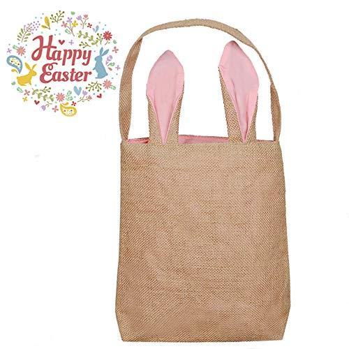 - Easter Bunny Gift Bag Easter Treat Bag Easter Decor Easter Basket Easter Gift Bag Burlap Gift Bag Rustic Gift Bag Party Favor Bags Spring Pink 12