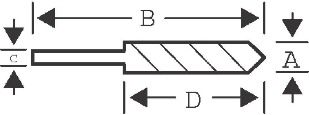 Bahco 464-7-100 Super-Beton-Bohrer 7x100mm