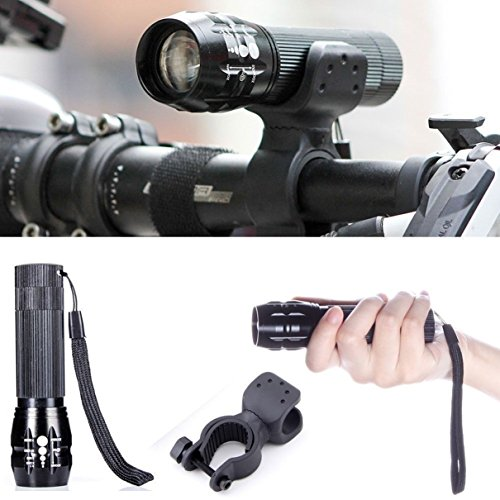 1 Pc Eloquent Unique Bike Lights LED Flashlight 240 Lumens Night Light Bicycle Multi Modes Lighter Handlebars Cycling Head Rear Headlight Coast Bright LEDs Flashlights Torch Lamp Color Black w/ (Electric Pro Volt Hat)