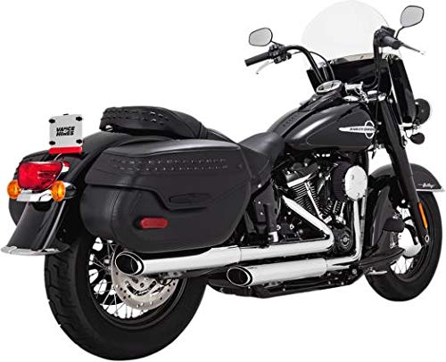 Vance & Hines 16879 Twin Slash Slip-On Mufflers - Chrome