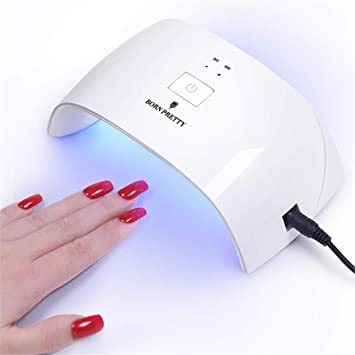 Amazon.com: Born Pretty 24 W UV LED lámpara de uñas secador ...